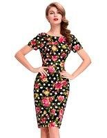 Femmes Dress 2017 style Européen sexy de split Formelle Gaine Vintage Crayon Partie Robes plus la taille vestidos Floral Moulante dress