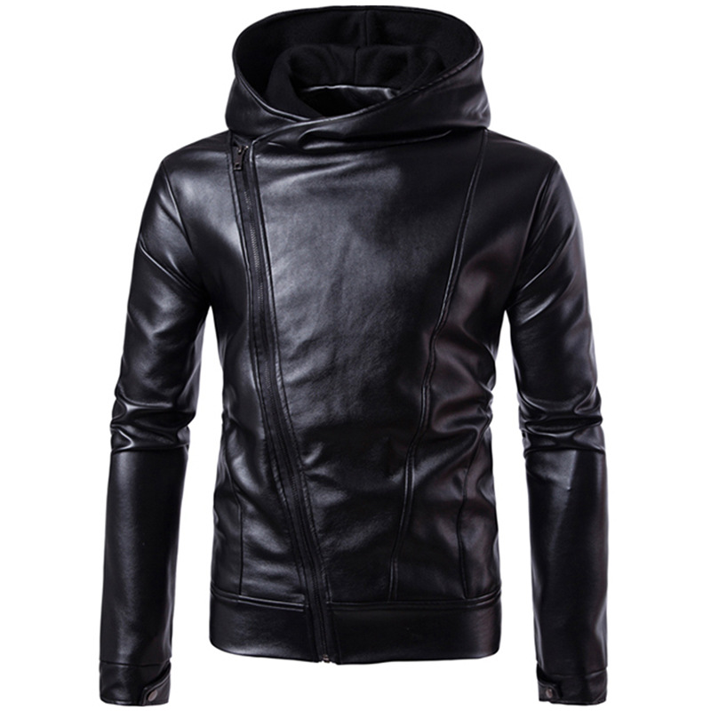 Mens Warm Leather Jackets PU Coats Fleece Solid Color Faux Fur Outerwear Faux Leather Motorcycle Jacket Winter Thick Clothes 4XL