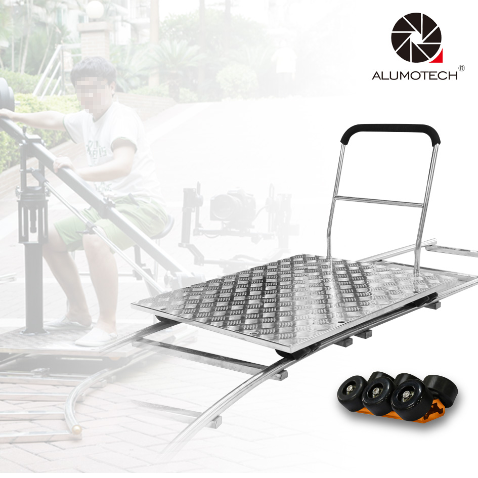 US $348 0 20% OFF|Max Load 600lbs Heavy Duty Stainless Curved&Straight  Rail+Dolly Car For Video-in Rail Systems from Consumer Electronics on