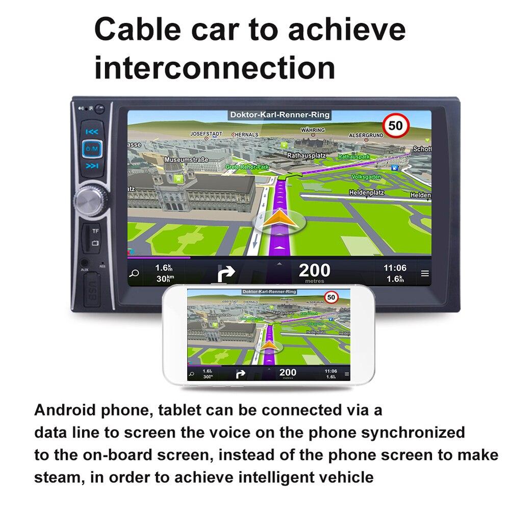 imágenes para 6.6 ''2 Din Car Audio Estéreo Reproductor MP5 FM Radio Pantalla Táctil de ALTA DEFINICIÓN Digital con USB Bluetooth Soporte Del Teléfono/Tableta Conectada GPS