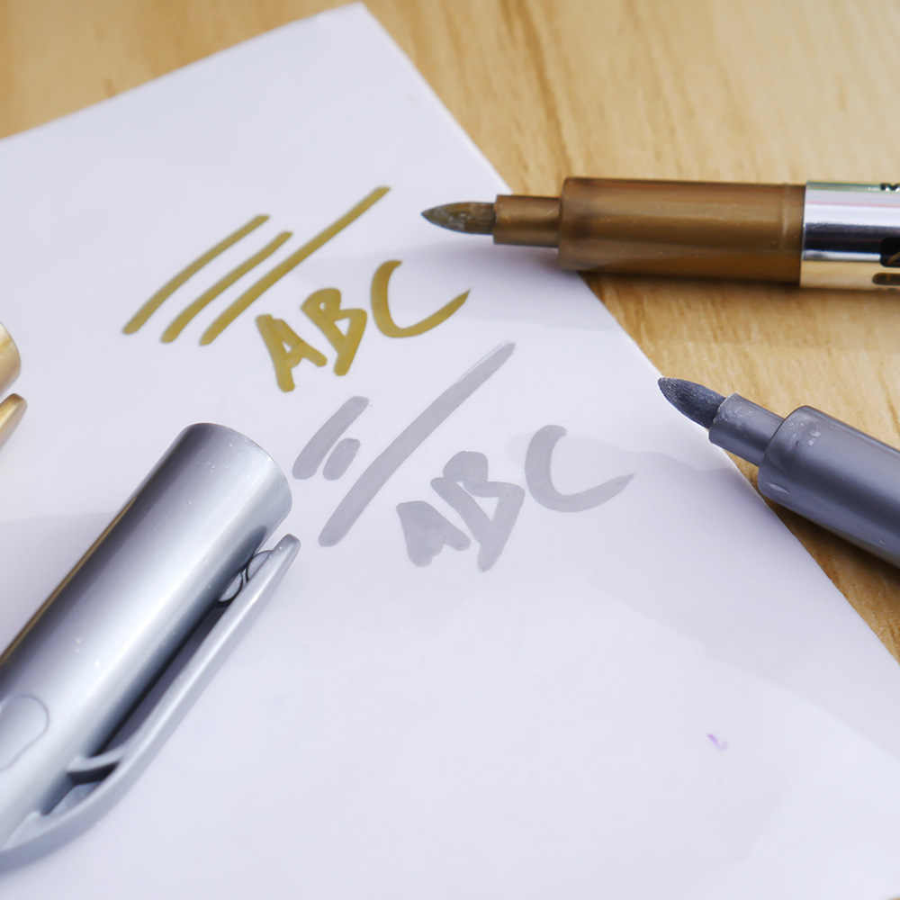 1 piezas pluma de pintura Graffiti grasa de Color Metal tecnología de lápiz de plata de oro 1,5mm pintura pluma estudiante suministros MP550 marcador pluma caneta