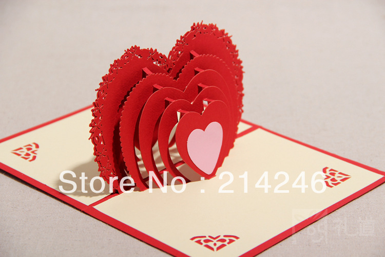 wholesale 3d greeting cards handmade origami heart card fancy creative gift for valentines day wedding thanksgiving day on aliexpresscom alibaba group
