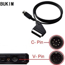 BUKIM Новый EU штекер Scart кабель для SEGA Genesis Mega Drive 1 V Pin PAL