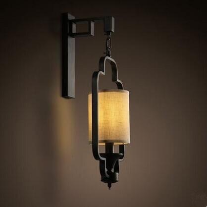 Fabic Ombre Chinois Style Led Applique Luminaires Pour La Maison