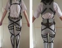 Anime Attack on Titan Cosplay Eren Levi Shingeki no Kyojin harness belt hookshot costume