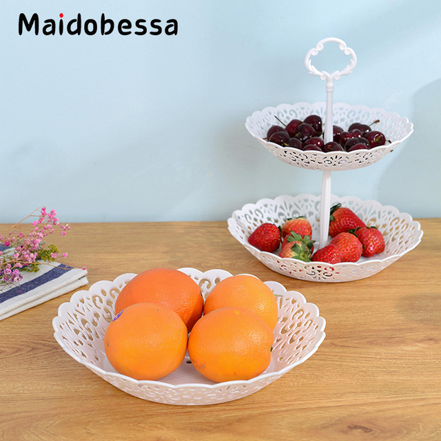 Maidobessa Round Cake Stand 2/3 Tier Candy Fruits Cakes Desserts Plate Stands For Wedding & Maidobessa Round Cake Stand 2/3 Tier Candy Fruits Cakes Desserts ...