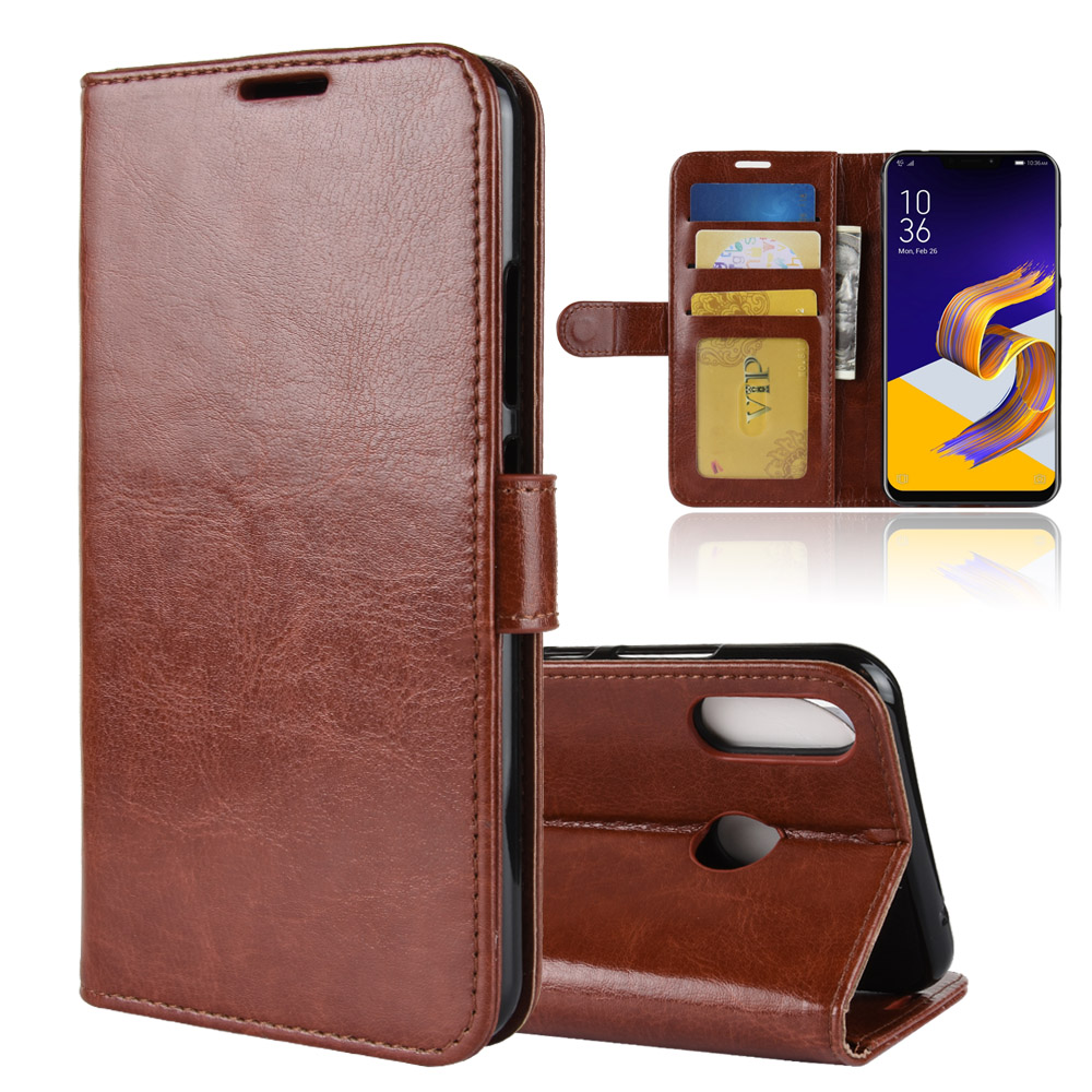 ZE620KL Case for ASUS ZenFone 5 ZE620KL Cases Wallet Card Stent Book Style Flip Leather Covers Protect Cover black 620 ASUS620