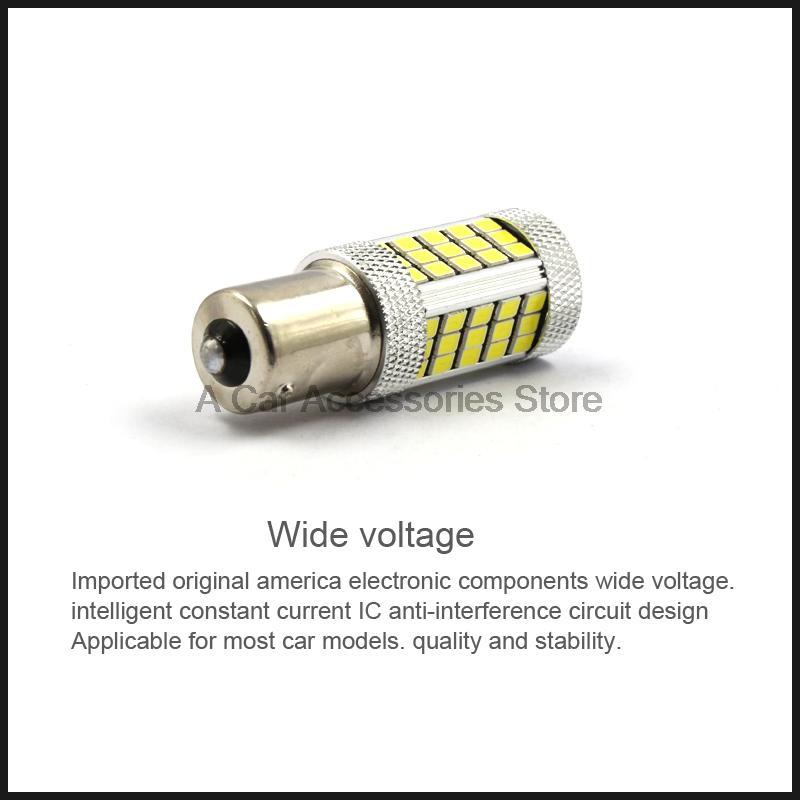2PCS 1156 P21W BA15S S25 63 smd LED auto brake light car Backup Reverse Lights Rear Direction Indicator blue