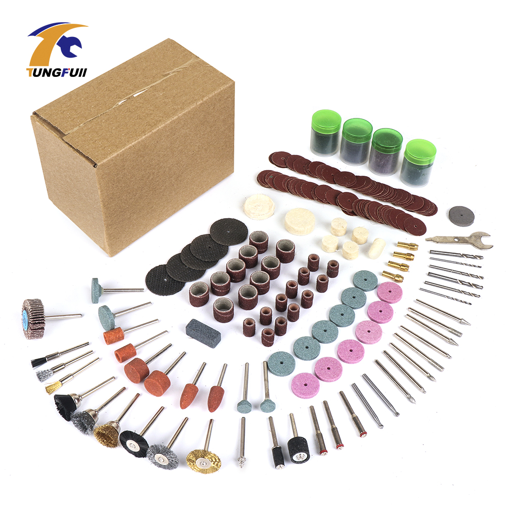 Tungfull 361pcs lot Power Tools Dremel Rotary Tool Accessory Set Fits for Dremel Drill Grinding Polishing Dremel Accessories