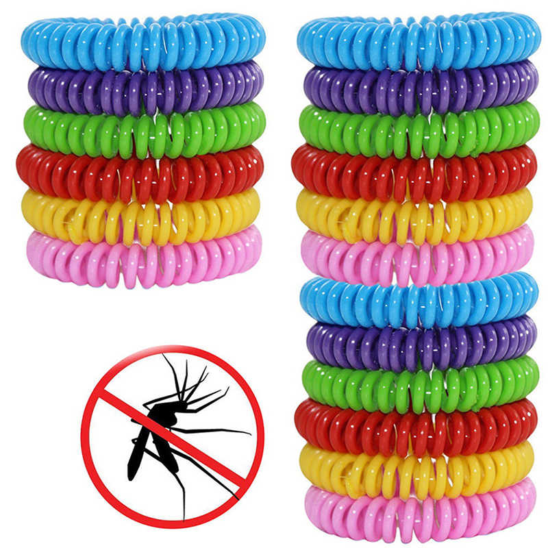 18pcs Mosquito Repellent Bracelets Insect Protection Outdoor Indoor Anti-Mosquito Hand Strap for Adults Kids Pest Control