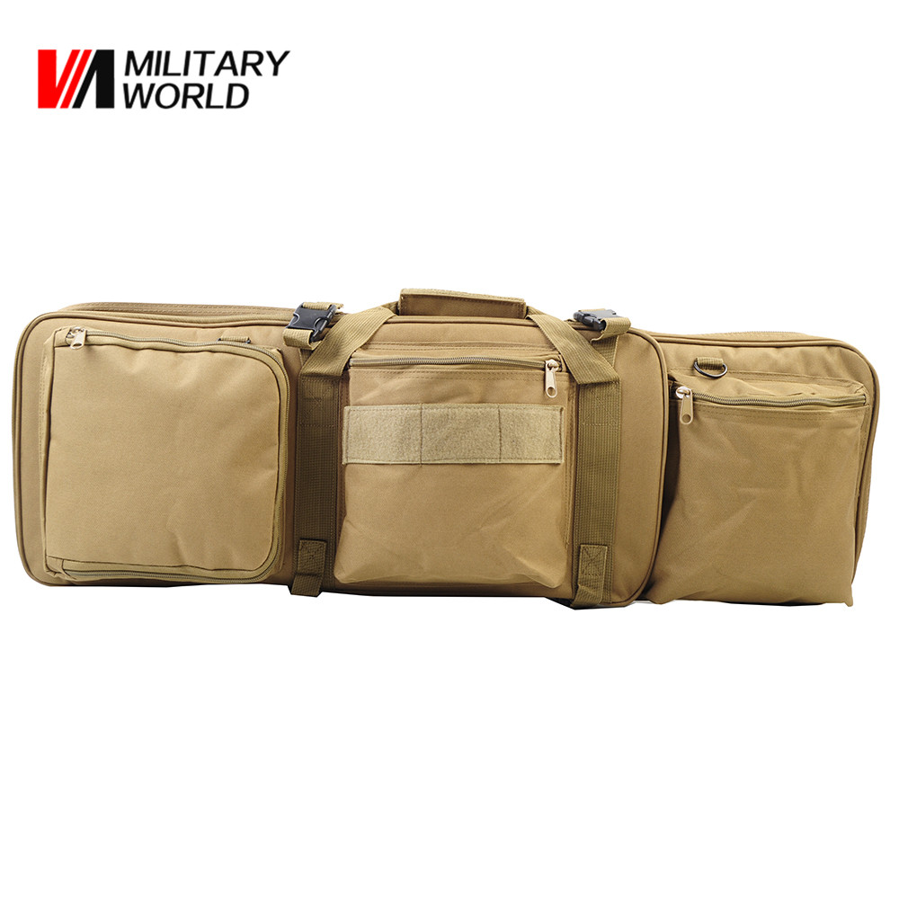 85CM Tactical Dual Rifle Shoulder Bag for M4 Gun Case Airsoft Paintball Hunting Shotgun Bags Backpack Handbag airsoft adults cs field game skeleton warrior skull paintball mask