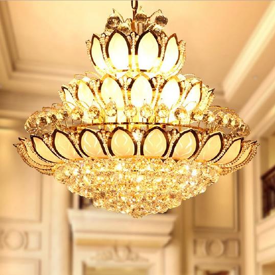 Ոսկե բյուրեղապակի ջահեր թեթև - Ներքին լուսավորություն