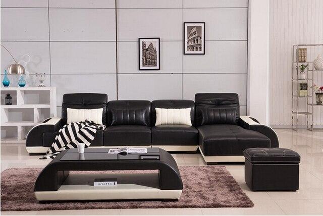 Lizz cuero genuino modernos sofás de la esquina reino unido sofá ...