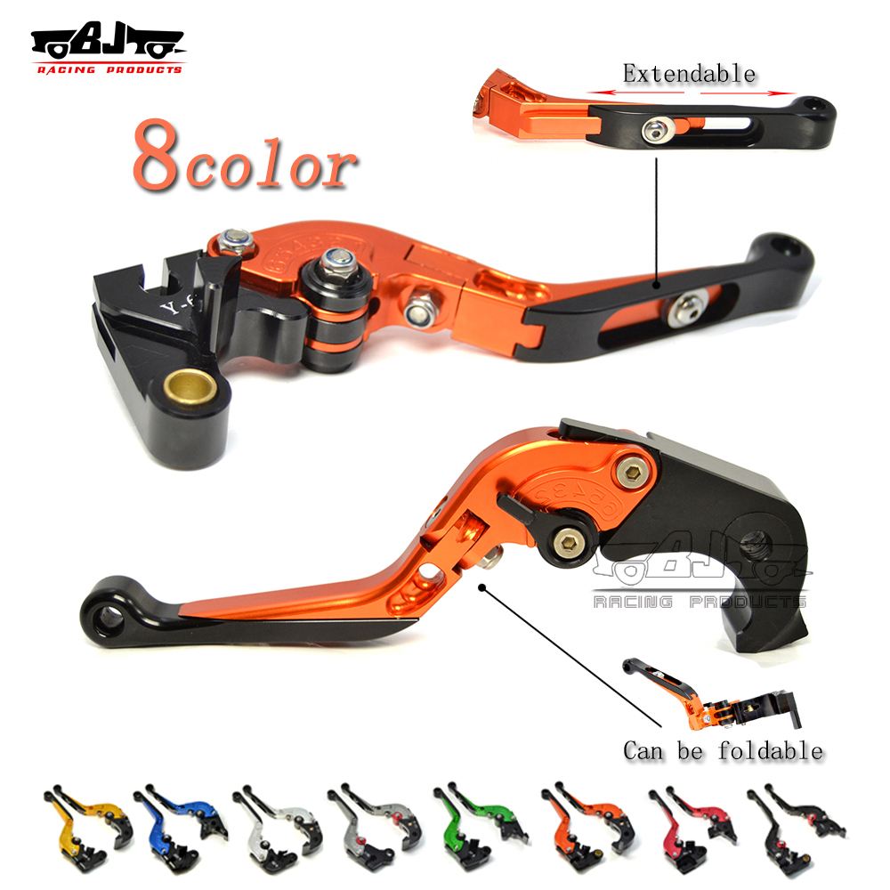 BJMOTO motorcycle RC 125 200 390 CNC Fold adjustable Long Brake Clutch Lever set for KTM DUKE 390 125 200 bjmoto hot sale orange motorcycle cnc aluminum handlebar risers top cover clamp fit for ktm duke 390 200 125 dirt bike