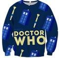 Новый Дизайн Стиль Толстовка TARDIS ДОКТОР КТО Забавный 3D Печать Толстовки Джемперы и звуковую отвертку Pullove Наряды Женщины/Мужчины