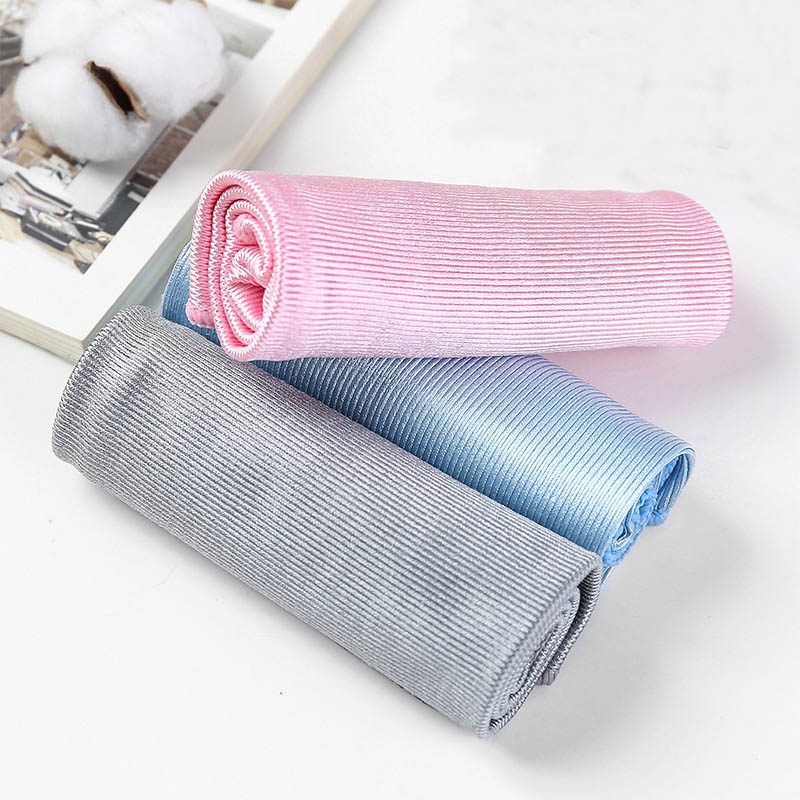 No Trace Absorbable 3 Size Soft Microfiber No Lint Window Car Rag Cleaning Towel Kitchen Cleaning Cloth Wipes Wipe Glass Cloth(China)