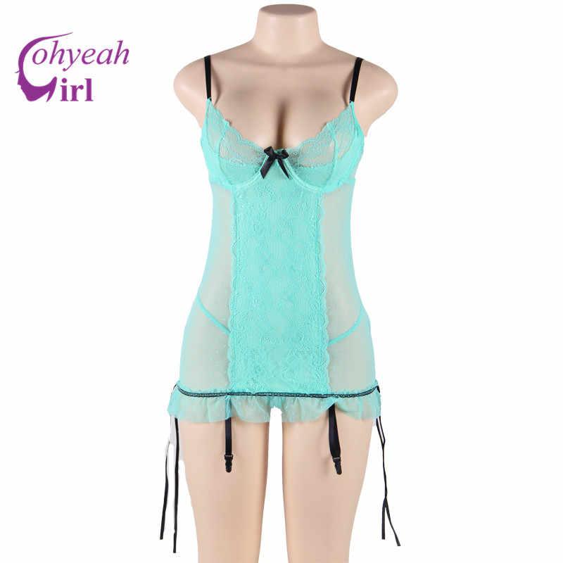 RW80197 ขายส่งและขายปลีกชุดชั้นในผู้หญิงเซ็กซี่ดูผ่านและ nice lace ropa erotica hot ขาย plus ขนาดเซ็กซี่ babydoll