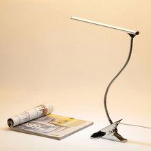 Desk Lamp Clip Led Clamp Desklight Luminaria De Mesa USB Port For Student Table Bedroom Bedside Office Flexible Light Stainless