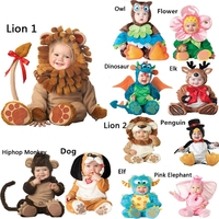 New Baby Boys Girls Animal Costume Cosplay Christmas Halloween Purim Holiday Birthday Party Cosplay Dress Up Outfit