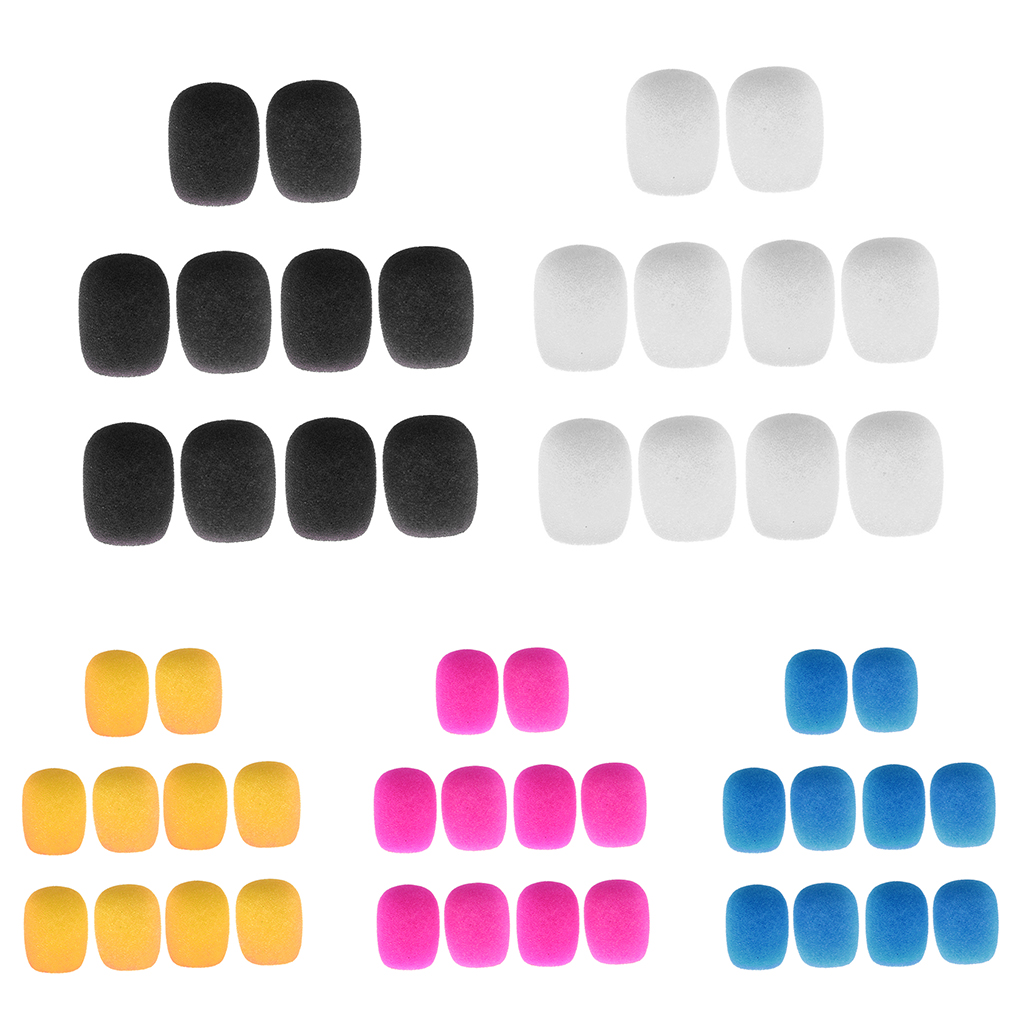 10 Pieces Anti-dirt Clip-on Headset Microphone Sponge Windscreen Wind Muff Mic Electric Musical Instrument Parts & Accessories