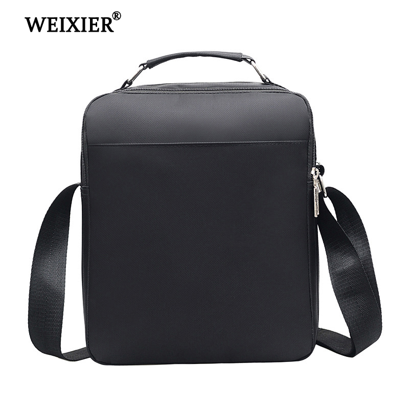 WEIXIER Brand Mens Fashion Nylon Designers Brand Casual Solid color Bags Men Handbag Bag Crossbody Bags Travel Messenger Bag