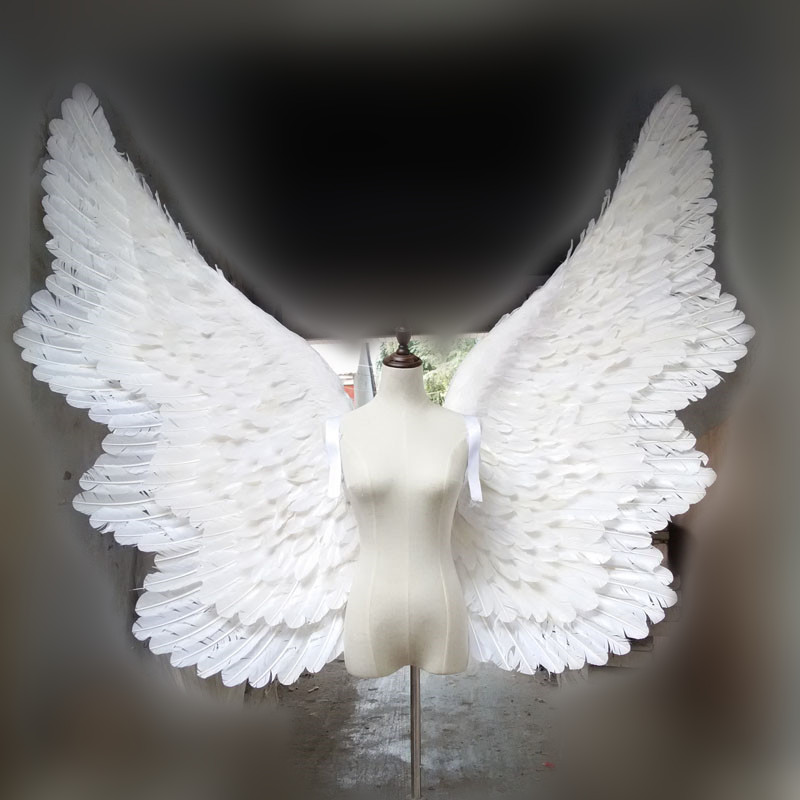 Cosplay props White large butterfly style feather angel wing wedding bar Decorations photography props air express Free shipping
