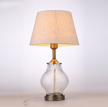 Fabric Lampshade Led Table Lamp Living Room Study Room Bedroom Lamp Simple Modern warm Glass Desk Lamp Home Deco Light Fixtures