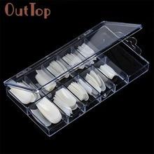 OutTop цвета, 100 шт, натуральные французские накладные ногти, искусственные накладные ногти, акриловые инструменты для маникюра 160920