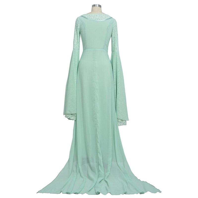 Властелин колец Arwen зеленое платье костюм платье ручной работы на заказ для женщин - 3