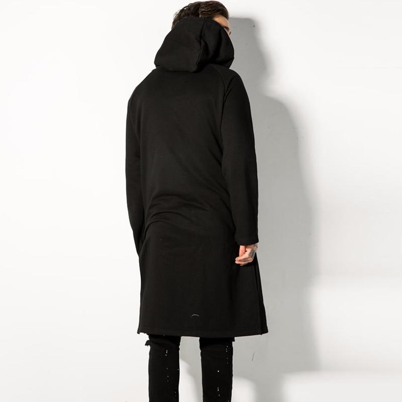 Hommes Automne Hoodies Mens Nouvelle Dustcoat De Occasionnel Longue Ab138 Noir Lâche Cardigan Coton Mode À Capuchon Arrivée Solide 2018 Printemps X7znwpzq