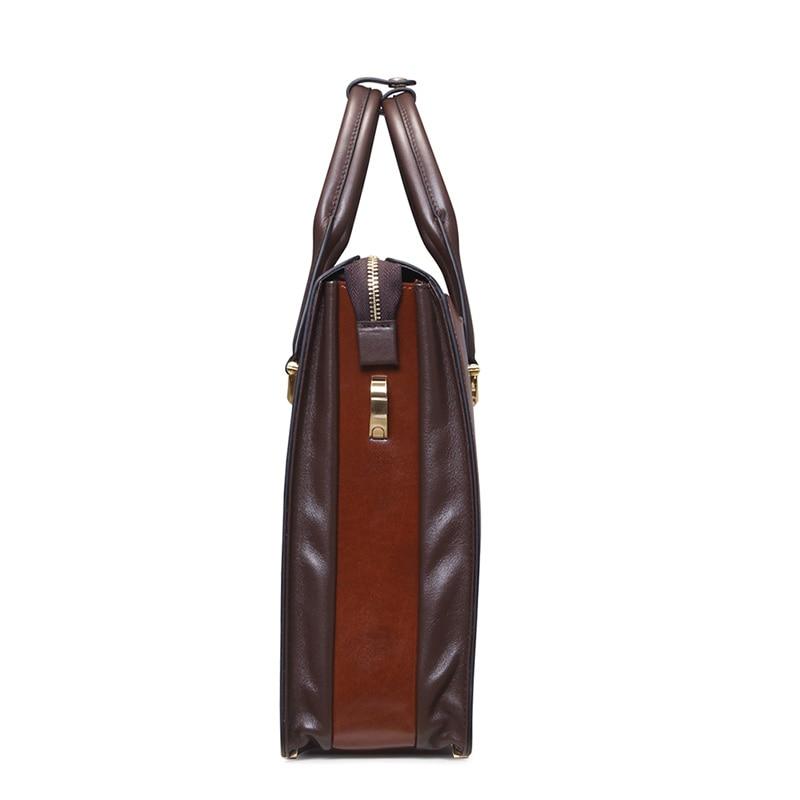 Moda famosa marca uomini d'affari borsa valigetta in pelle olio - Borse da lavoro - Fotografia 4