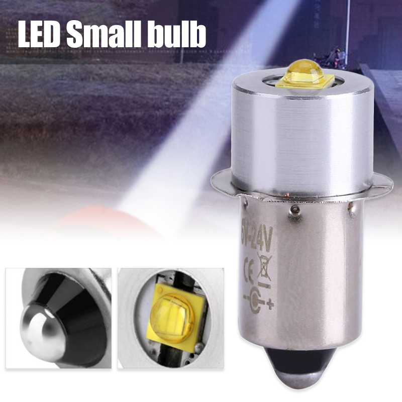 2 Pcs 3W <font><b>LED</b></font> Small Bulb P13.5s <font><b>E10</b></font> Series <font><b>LED</b></font> Bulb 3V/4-12V/6-<font><b>24V</b></font> GHS99 image