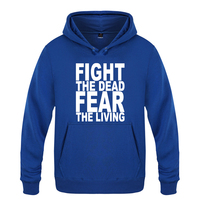 Fight The Dead Fear The Living The Walking Dead Sweatshirts Men 2018 Mens Hooded Fleece Pullover Hoodies