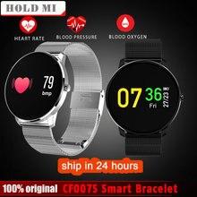 Tenir Mi CF007S Smart Bracelet Couleur Smart Bracelet Coeur Taux Sang Pression Sport Montre Podomètre Fitness Tracker Smartband