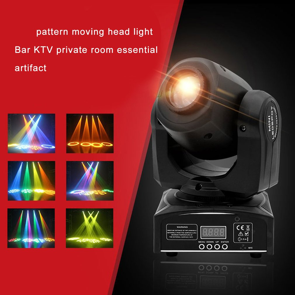 Stage Effect Lamp Total Rotating Moving Head By Sound Activated Master slave Auto Running 10/30/60W Channels for KTV Club Party