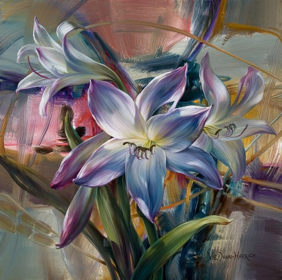 <font><b>Elegant</b></font> lily diy oil paintings on canvas <font><b>Home</b></font> <font><b>decor</b></font> wall art pictures Coloring by numbers cuadros decoracion flowers XSY02