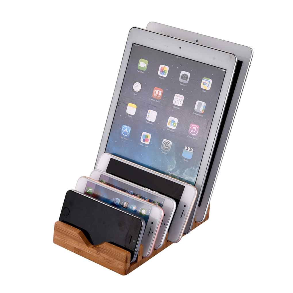 Phone Holder Bamboo Stand for iPhone for iPad Tablet Desktop for Samsung for Nokia Cellphones Organizer Cradle Bracket