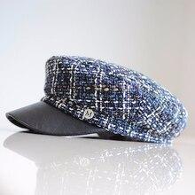Зимняя модная шапка женская Повседневная Уличная веревочная плоская кепка элегантная Весенняя Базовая бейсбольная шапка женская теплая шапка-берет