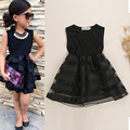 Children Girls Tulle Tutu Dress Princess Party Pageant Wedding Flower Dress 2-8Y DH