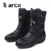 ARCX Motorcycle Boots Women Genuine Cow Leather Moto Boots Waterproof Racing Motorcross Boots Black Motorcycle Shoes Botas Moto