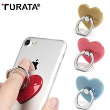 TURATA 360 градусов Любовь Сердце палец кольцо смартфон подставка держатель мобильного телефона Подставка для iPhone IPad LG Xiaomi huawei