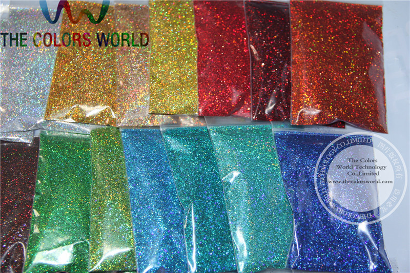 Image 4 - 24 Laser Holographic Colors 0.4MM size glitter  for nail decoration and others DIY Accessories-in Nail Glitter from Beauty & Health