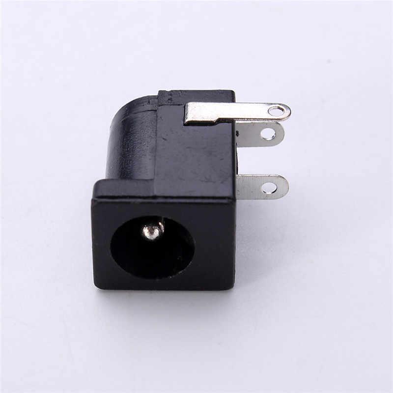 50 pièces un ensemble DC-005 noir DC prise Jack connecteur DC005 5.5*2.1mm 2.1 prise autour de l'aiguille