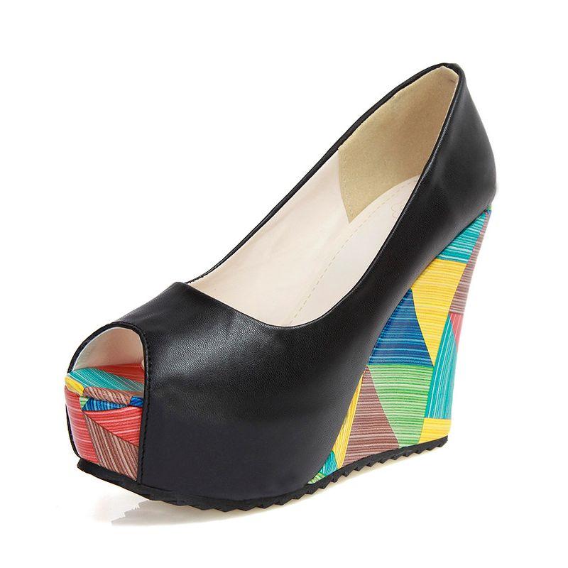 WDHKUN Woman High Heel Shoes Women Pumps Sexy Peep Open Toe Fashion Wedges Platform Heels Women Shoes Zapatos Mujer Size 34-43