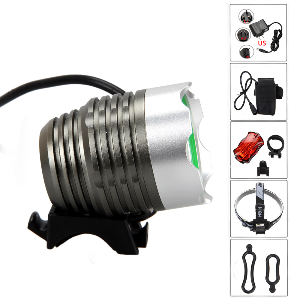 5000Lumens XM-L T6 LED Bike Lamp Front Cycling Bicycle light  Headlamp Head Torch Rechargeable Batterry Pack +Rear Light 3800 lumens cree xm l t6 5 modes led tactical flashlight torch waterproof lamp torch hunting flash light lantern for camping z93