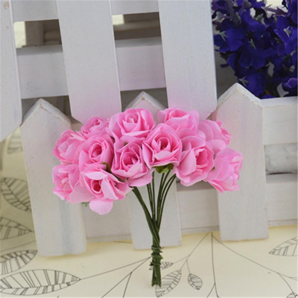Cheap 288pcs Paper Artificial Rose Flowers Bouquet For Wedding