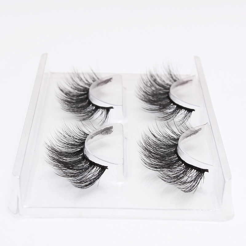 2 Pairs 3D Mink Lashes Natural Long False Eyelashes