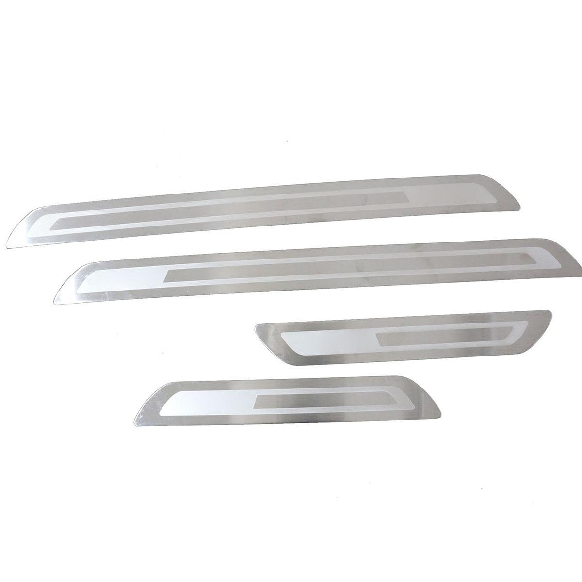 Chrome 4Pcs Door Scuff Plate Stainless Steel Trim Guard Sills for VW Golf MK6 sports car door sill scuff plate guard sills for 2014 mazda 6 atenza m6