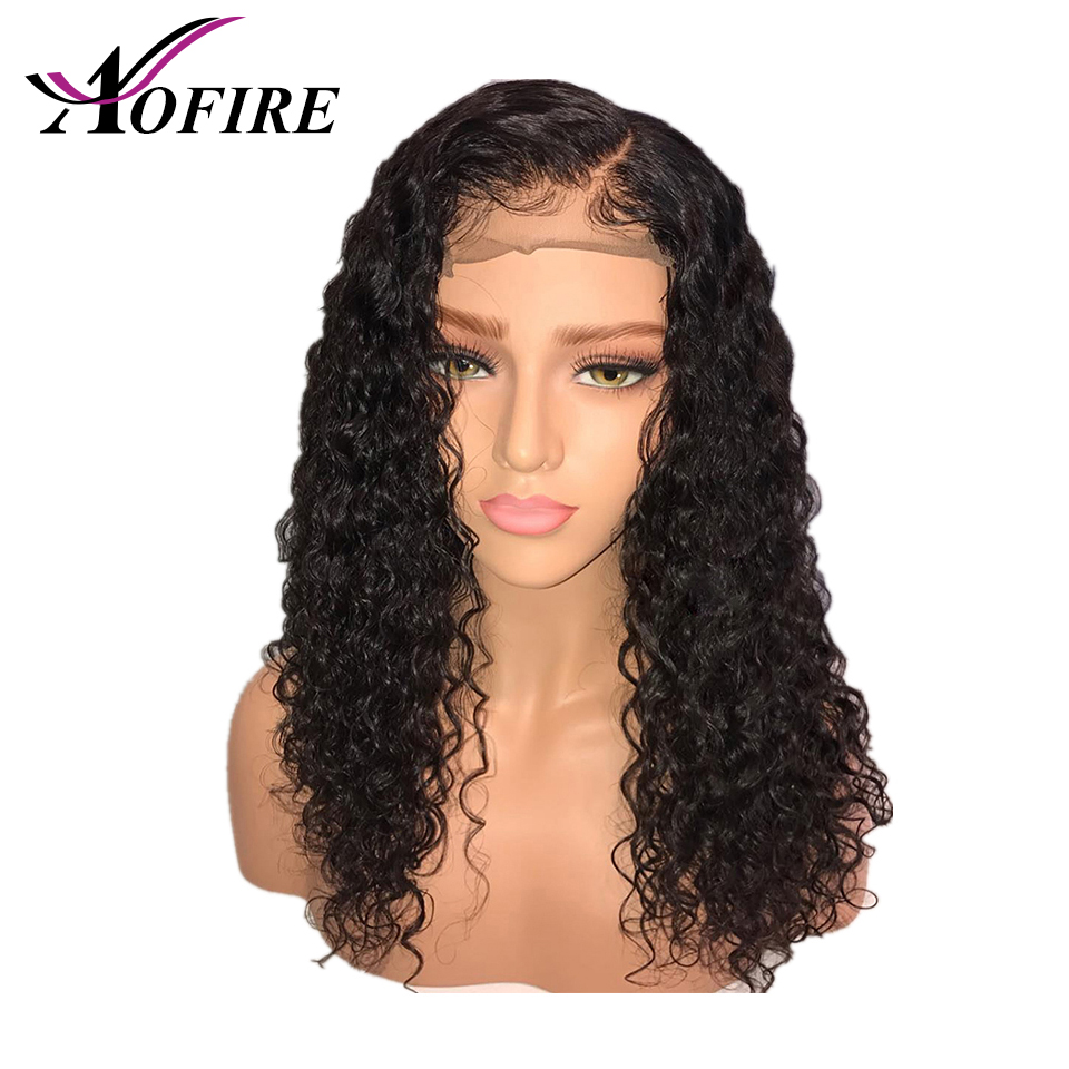 Full Lace Human Hair Wigs Transparent Lace Wig Brazilian Water Wave Remy Hair With Baby Hair