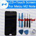 For Meizu M2 Note LCD Display+Touch Screen Digitizer Glass Panel For Meizu M2 Note 1920x1080 FHD 5.5'' Cell Phone- In Stock